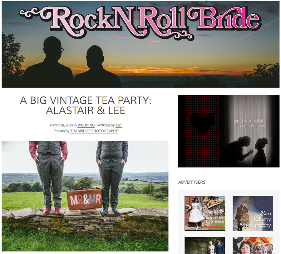 Featured in RocknRoll Bride Mar 2013