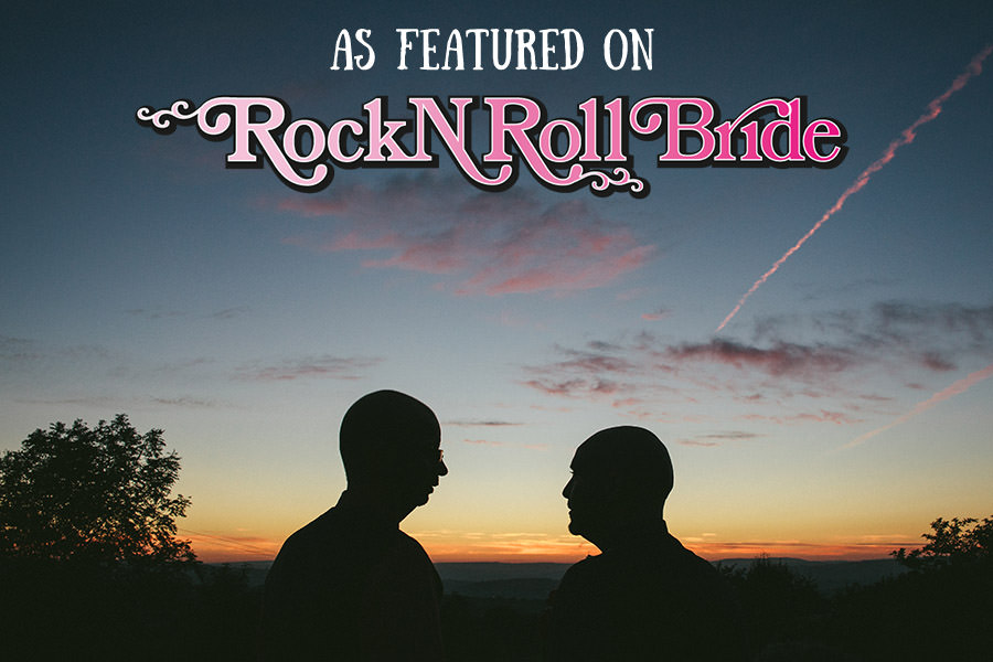 Gay wedding featured rocknrollbride